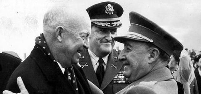 Eisenhower y Franco. Autor Jaime Pato