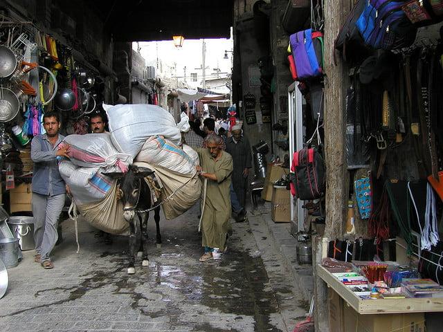Mercado de Alepo, uno de los lugares del mundo que ha sufrido más ataques yihadistas. Autor: Gusjer