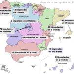 Mapa de la corrupción del Partido Popular