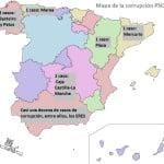 Mapa de la corrupción socialista