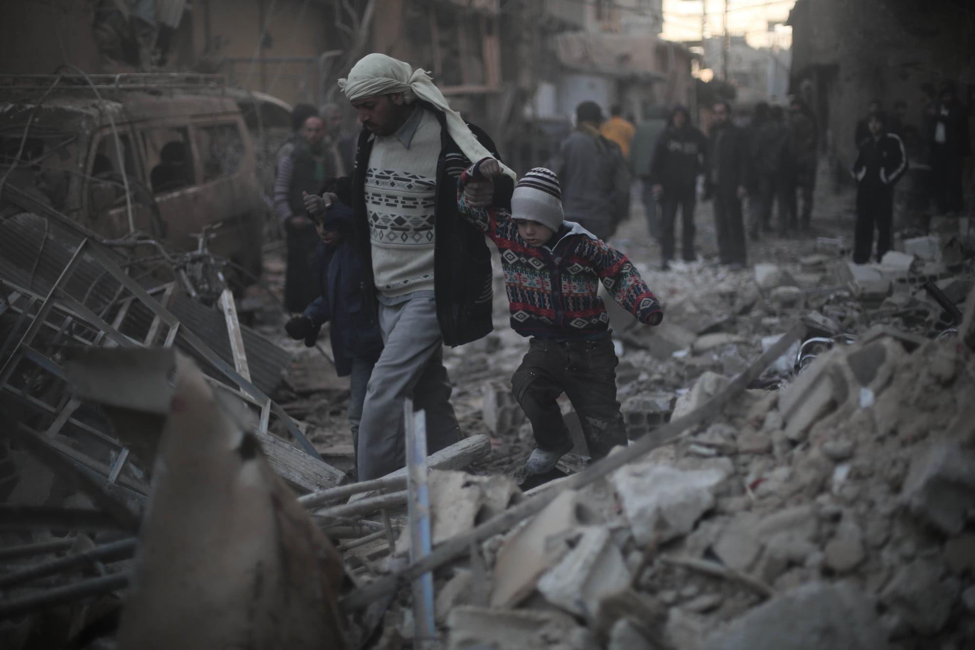 niños guerra siria