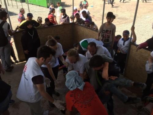 refugiados, frontera